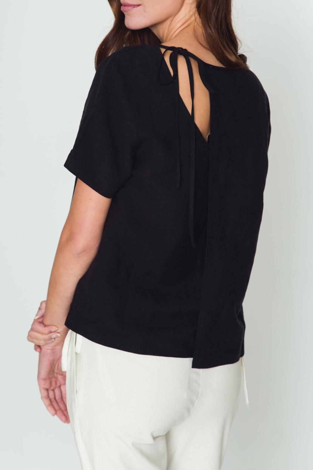 Movint Tie Back Detail Top - Front Cropped Image