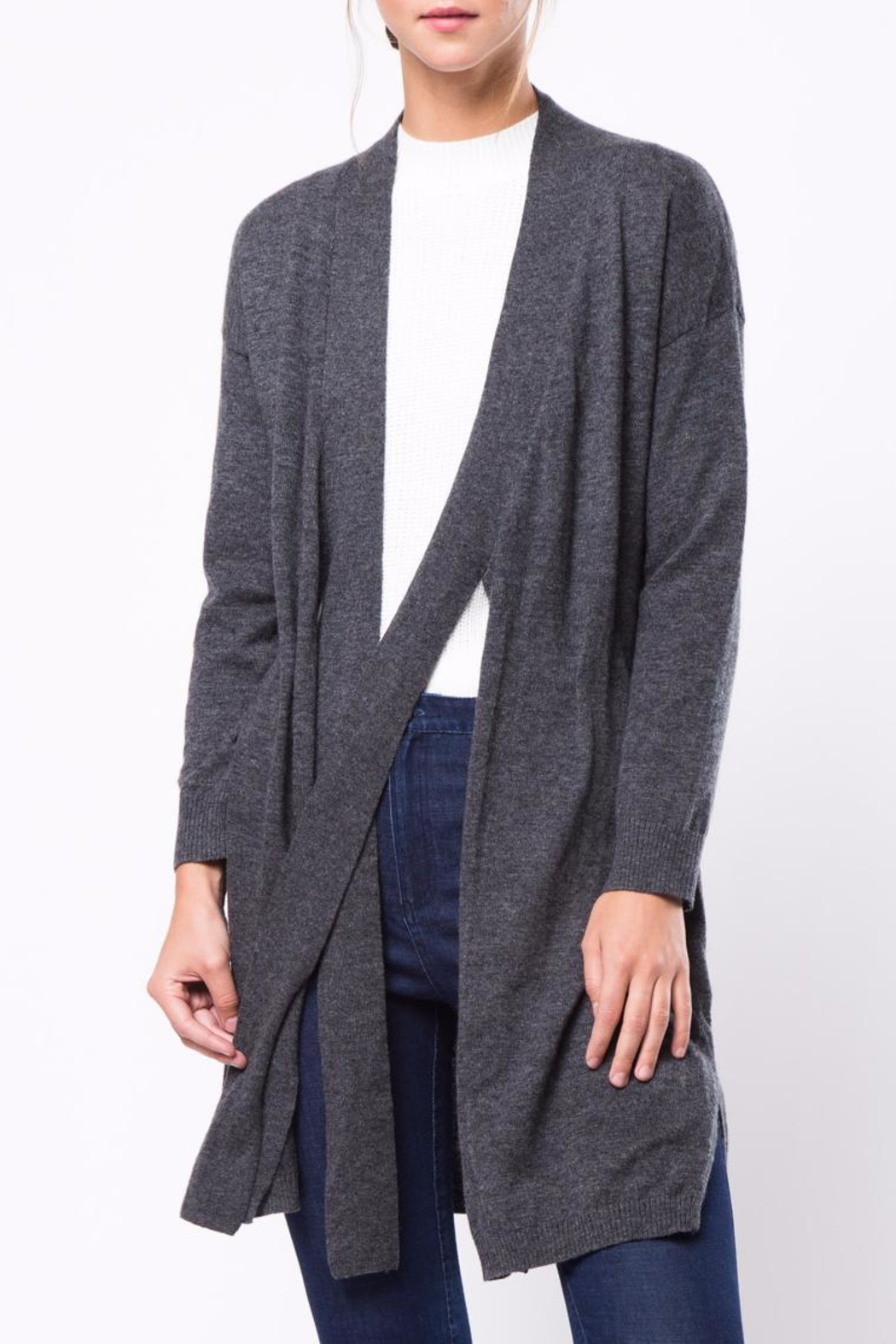 Movint Tie Cardigan - Front Cropped Image
