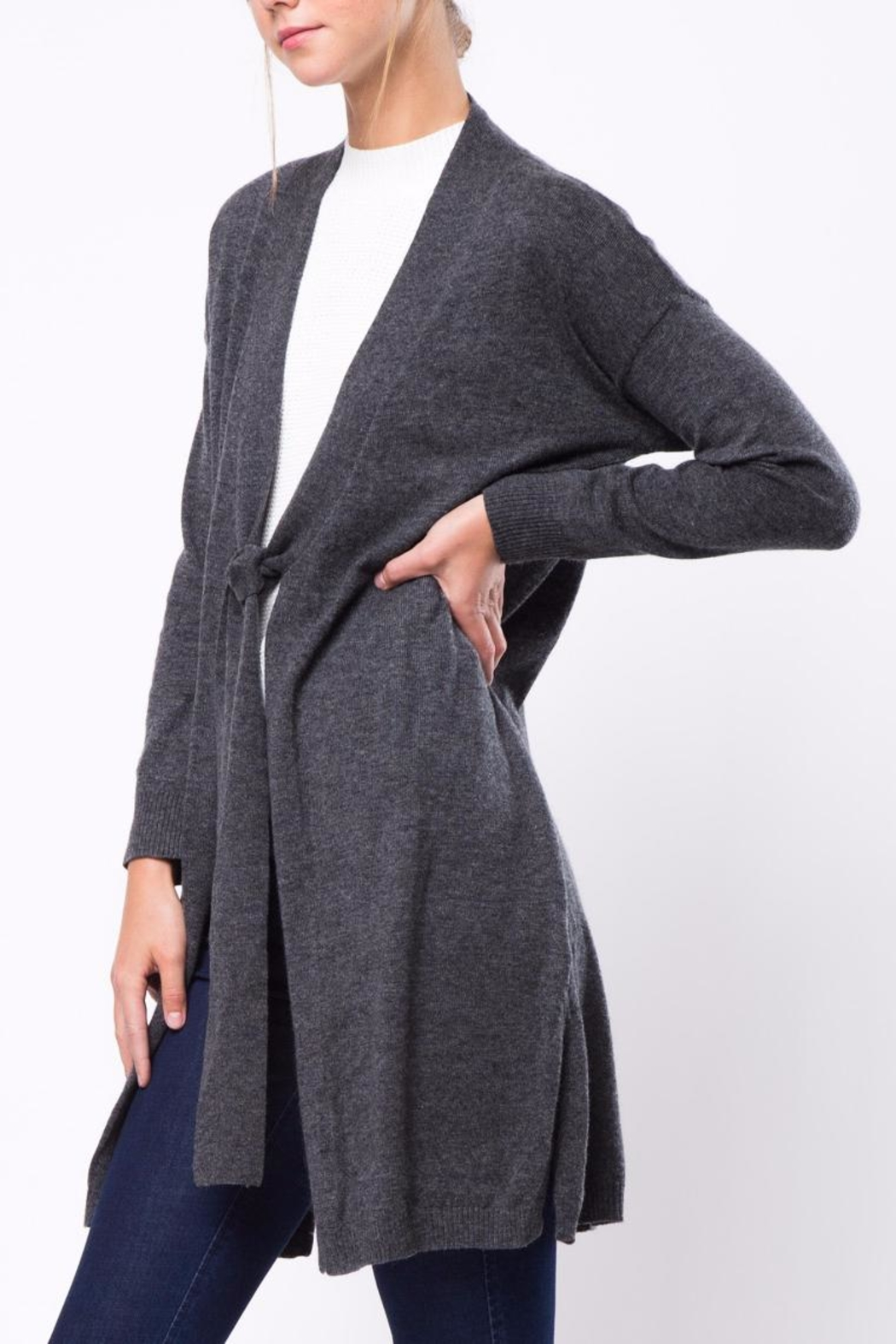 Movint Tie Cardigan - Side Cropped Image