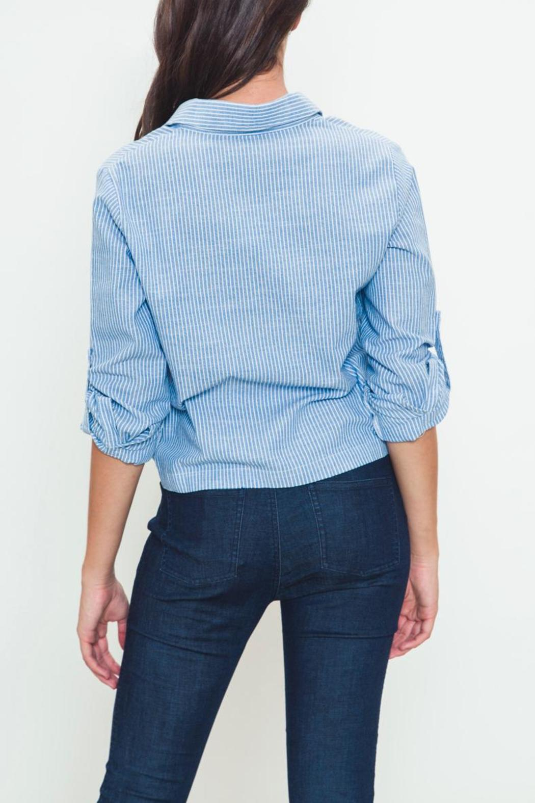 Movint Tie-Front Buttondown - Side Cropped Image