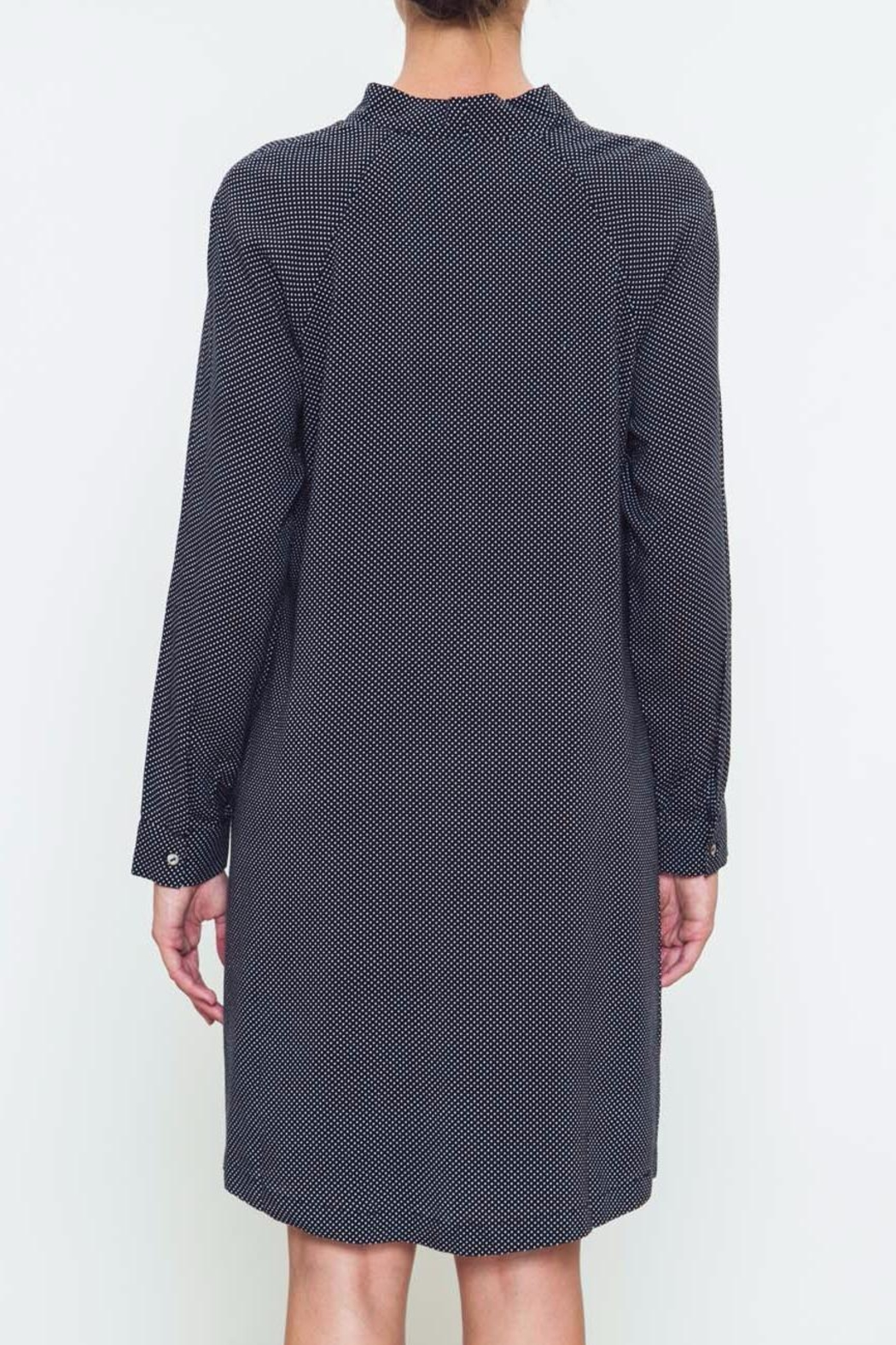 Movint Tie Neck Dress - Side Cropped Image