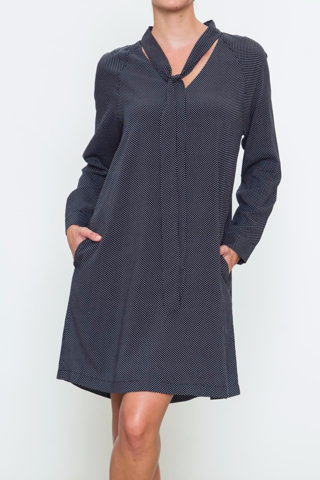 Movint Tie Neck Dress - Front Cropped Image