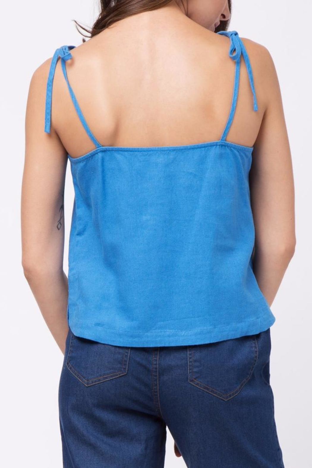 Movint Tie Shuolder Strap Cami - Front Full Image
