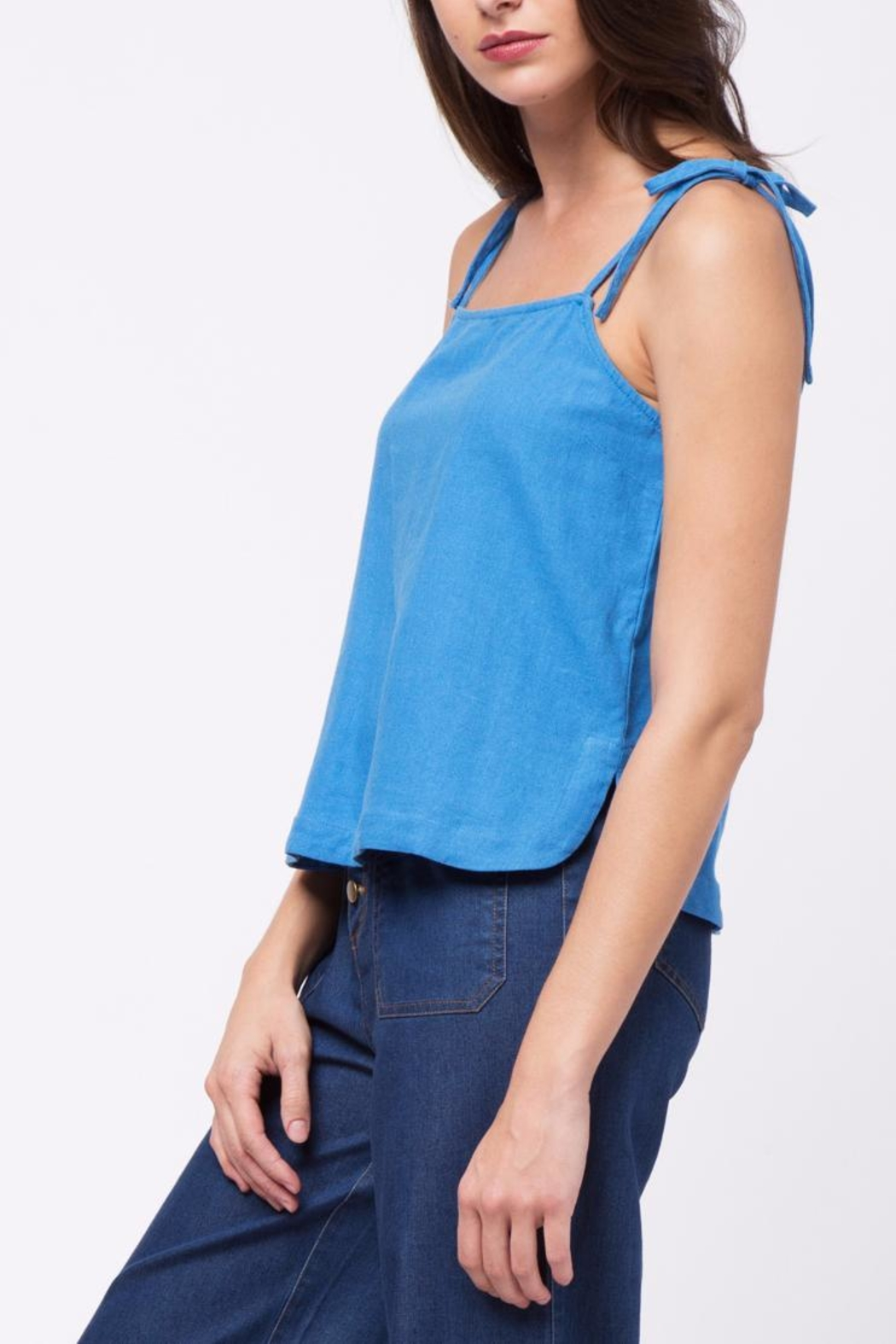 Movint Tie Shuolder Strap Cami - Side Cropped Image