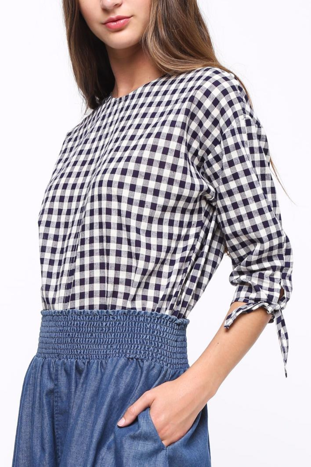 Movint Tie-Sleeve Detailed Top - Side Cropped Image