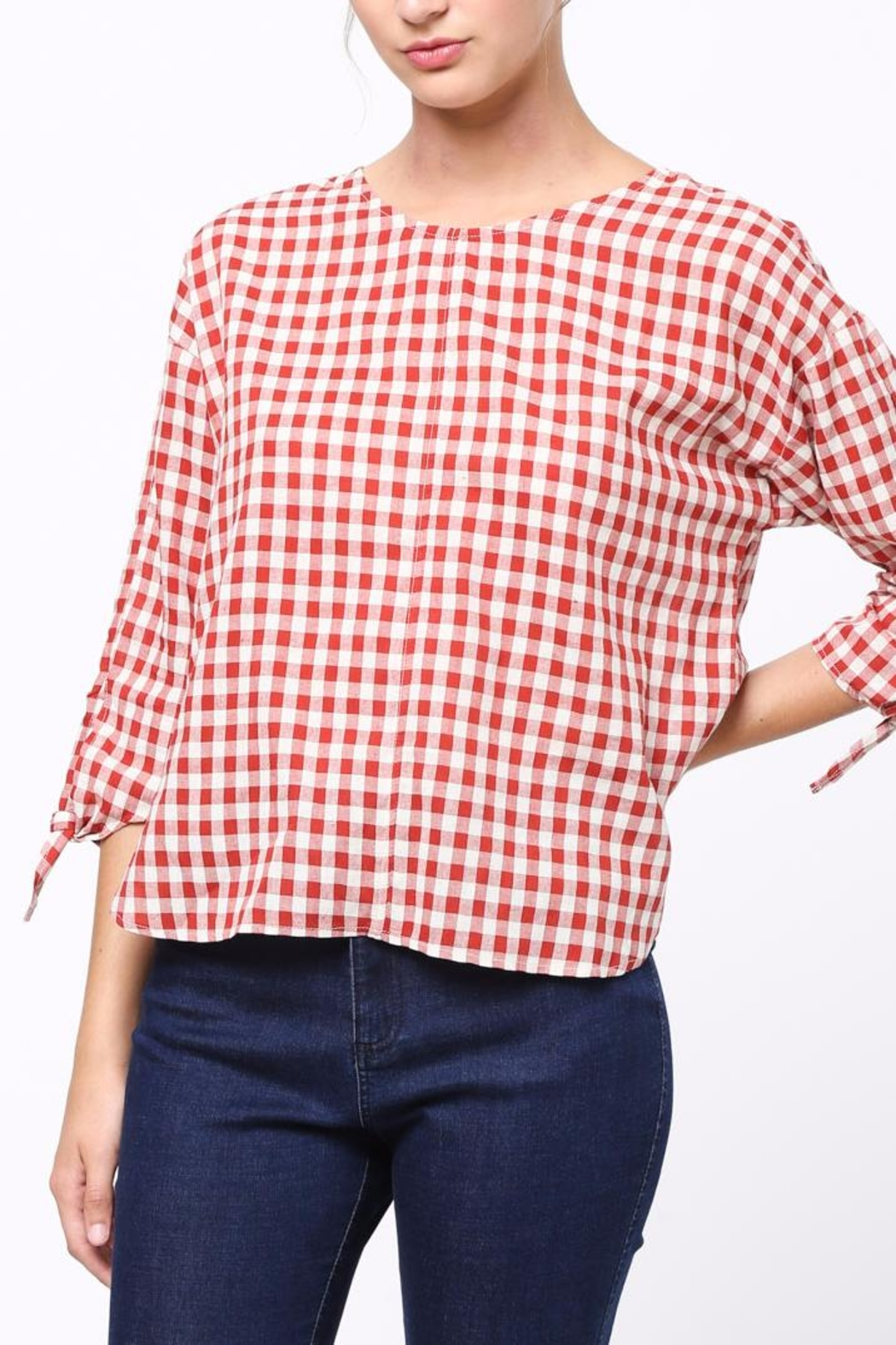 Movint Tie-Sleeve Detailed Top - Front Cropped Image