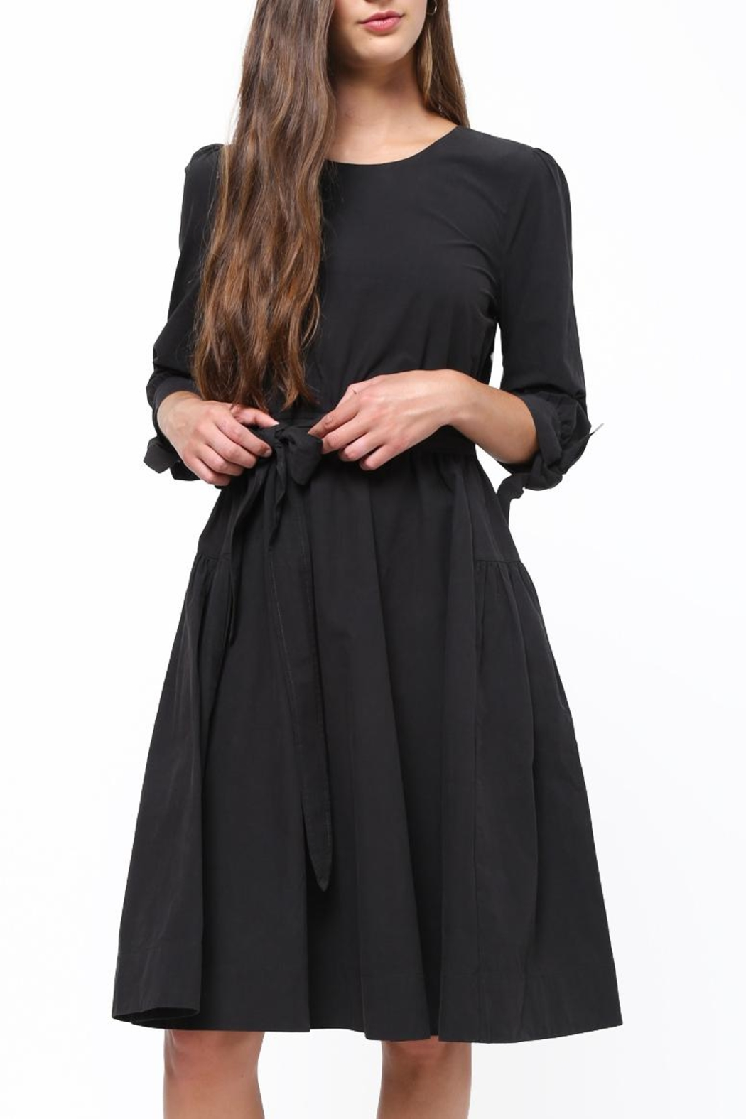 Movint Tie Sleeve Dress - Front Cropped Image