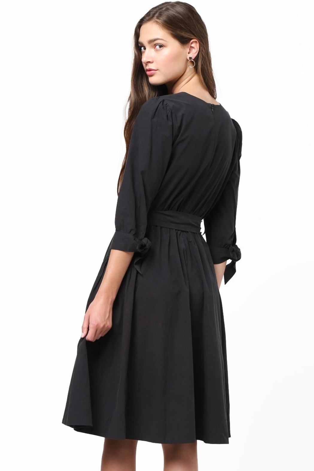 Movint Tie Sleeve Dress - Front Full Image