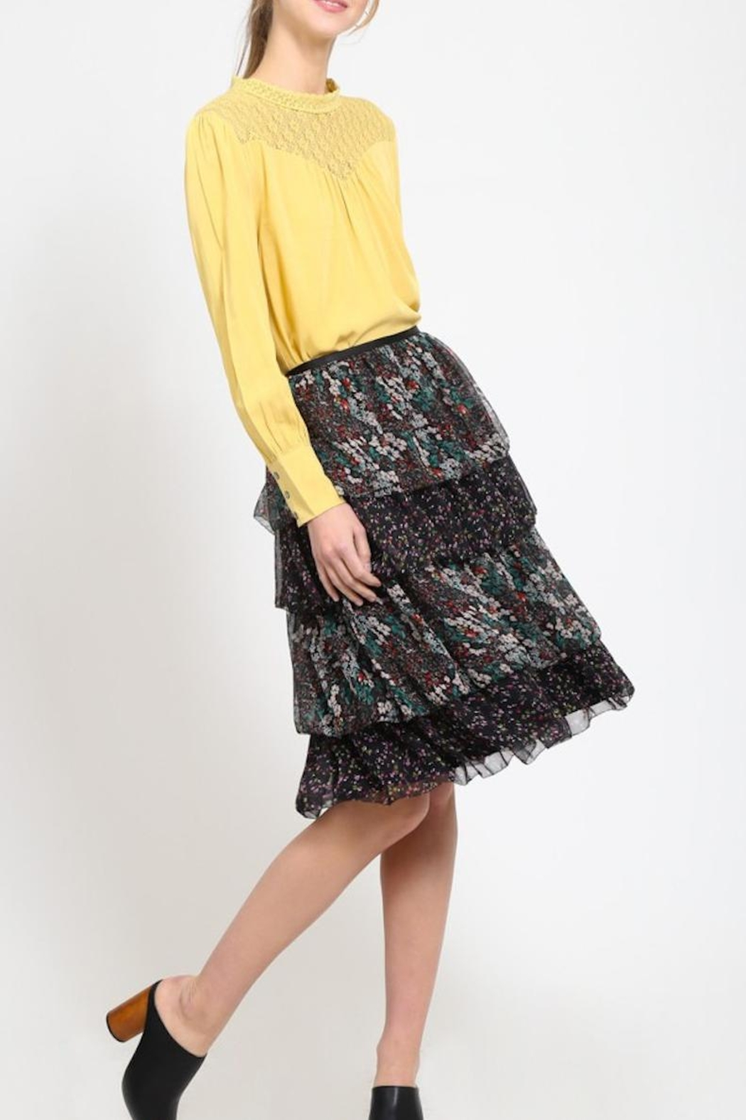 Movint Tiered Chiffon Skirt - Front Full Image