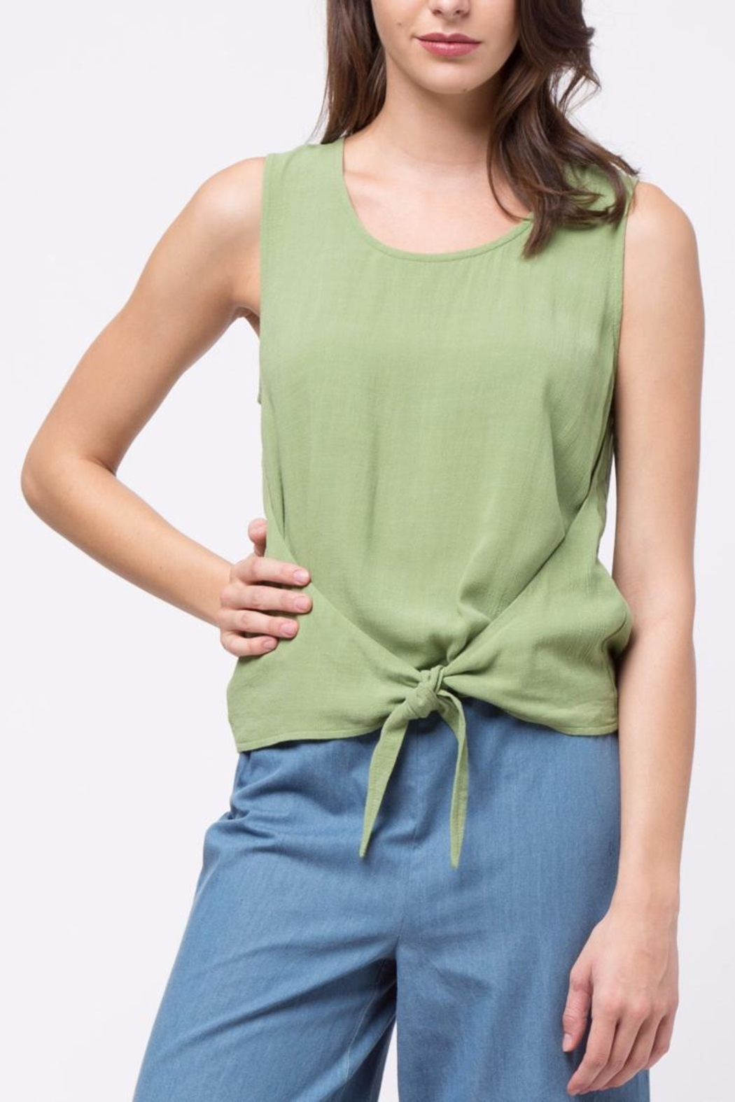 Movint Top With Overlapped Tie Detail - Front Full Image