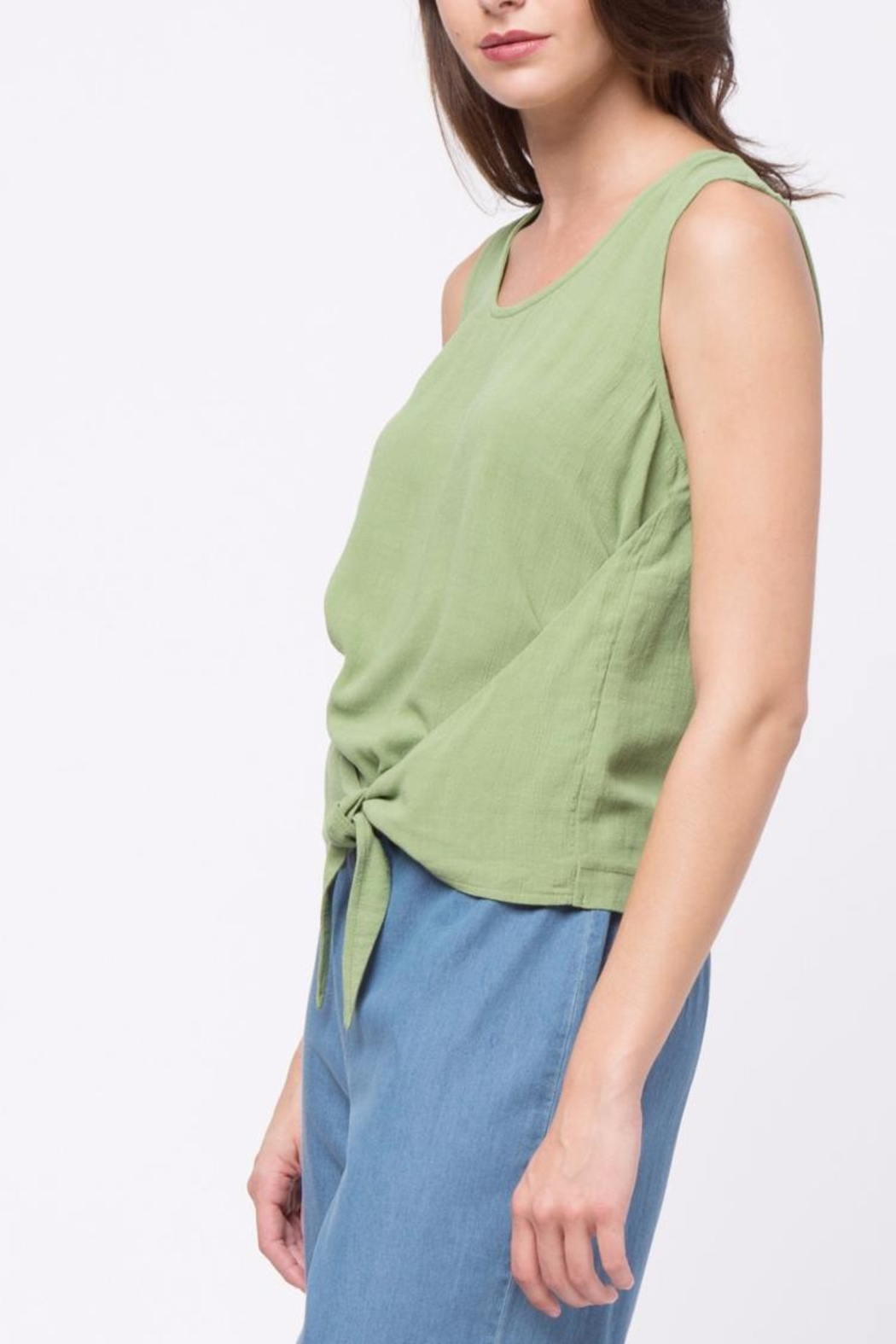 Movint Top With Overlapped Tie Detail - Side Cropped Image