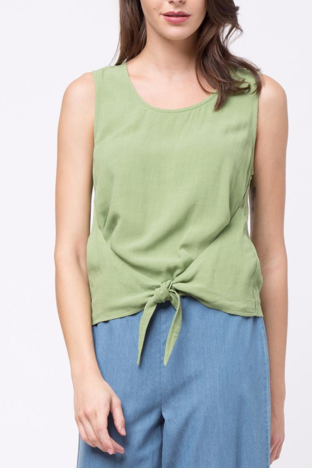 Movint Top With Overlapped Tie Detail - Main Image