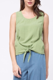 Movint Top With Overlapped Tie Detail - Front cropped