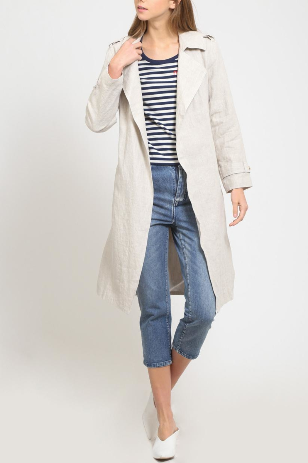 Movint Trench Coat - Front Cropped Image