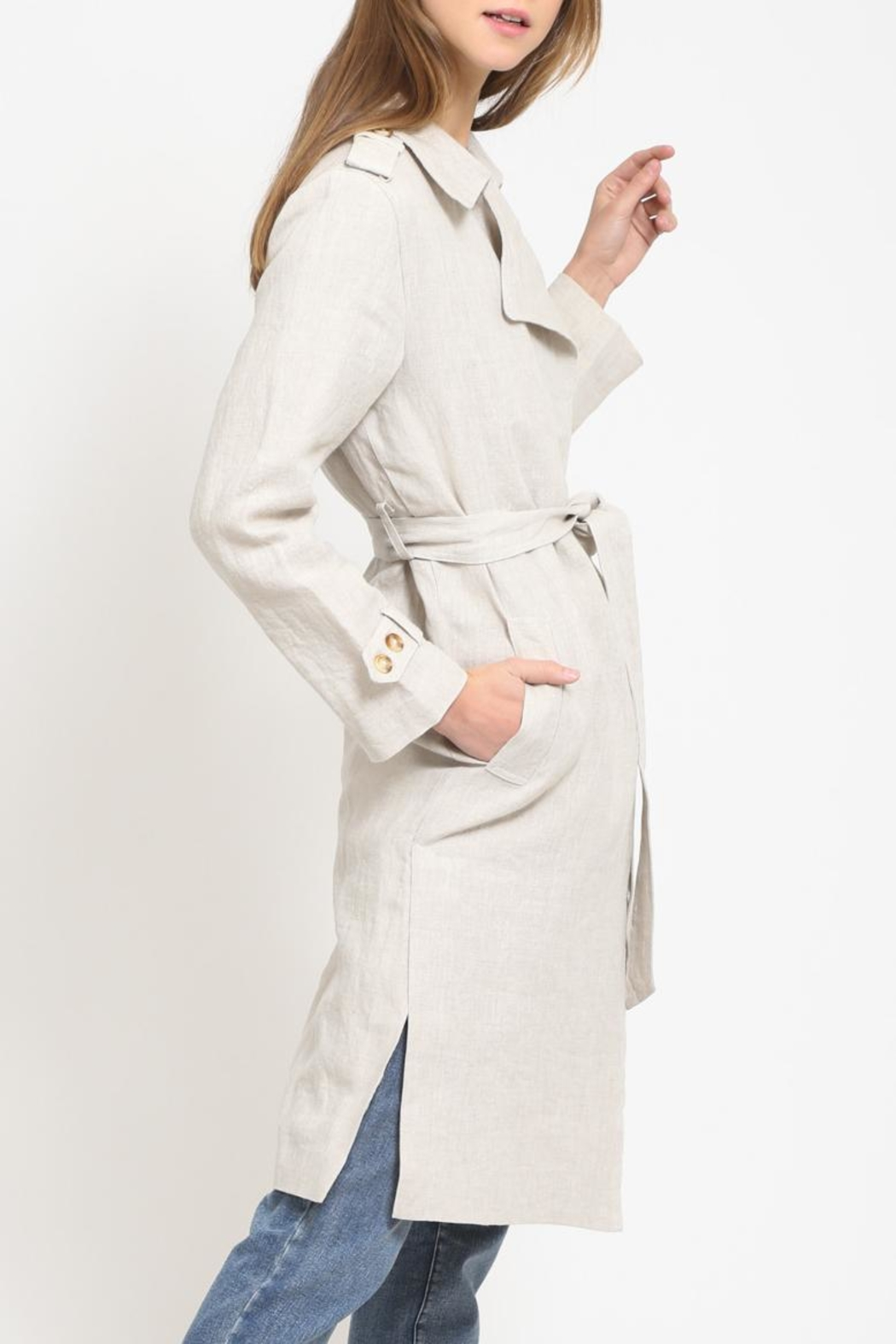 Movint Trench Coat - Front Full Image