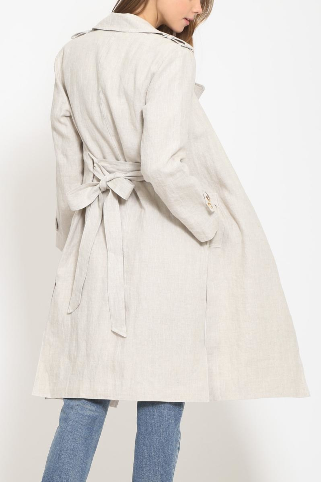 Movint Trench Coat - Side Cropped Image