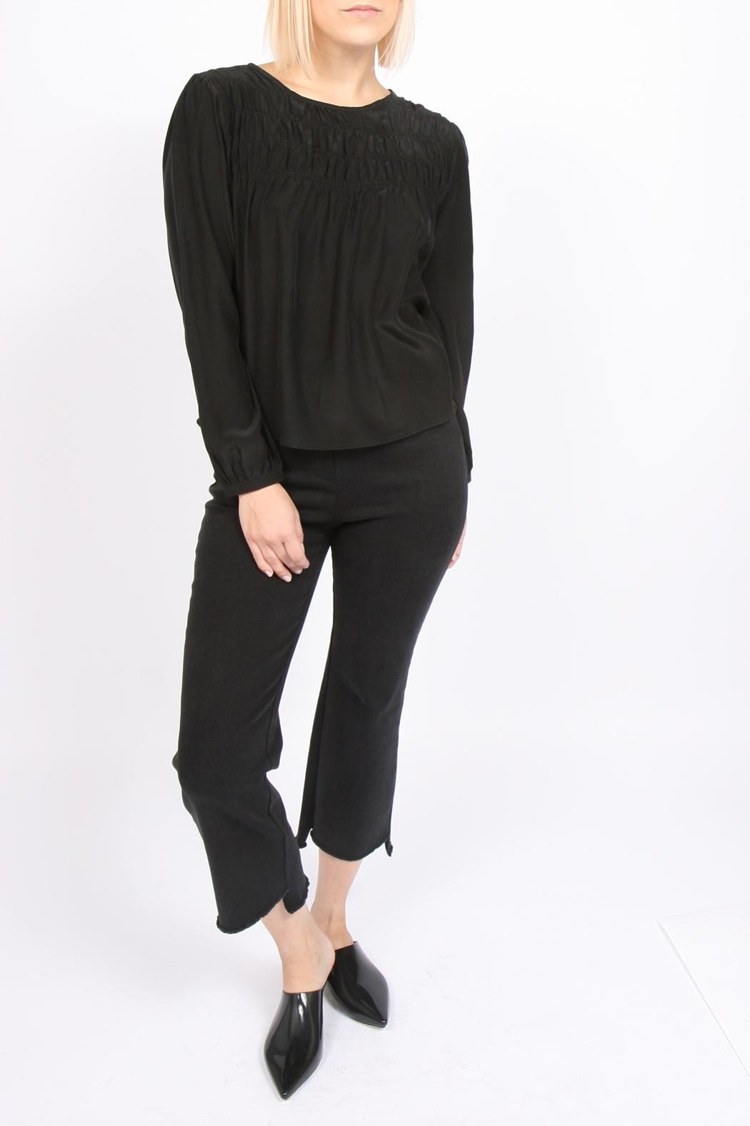 Movint Tucked Silk Blouse - Side Cropped Image
