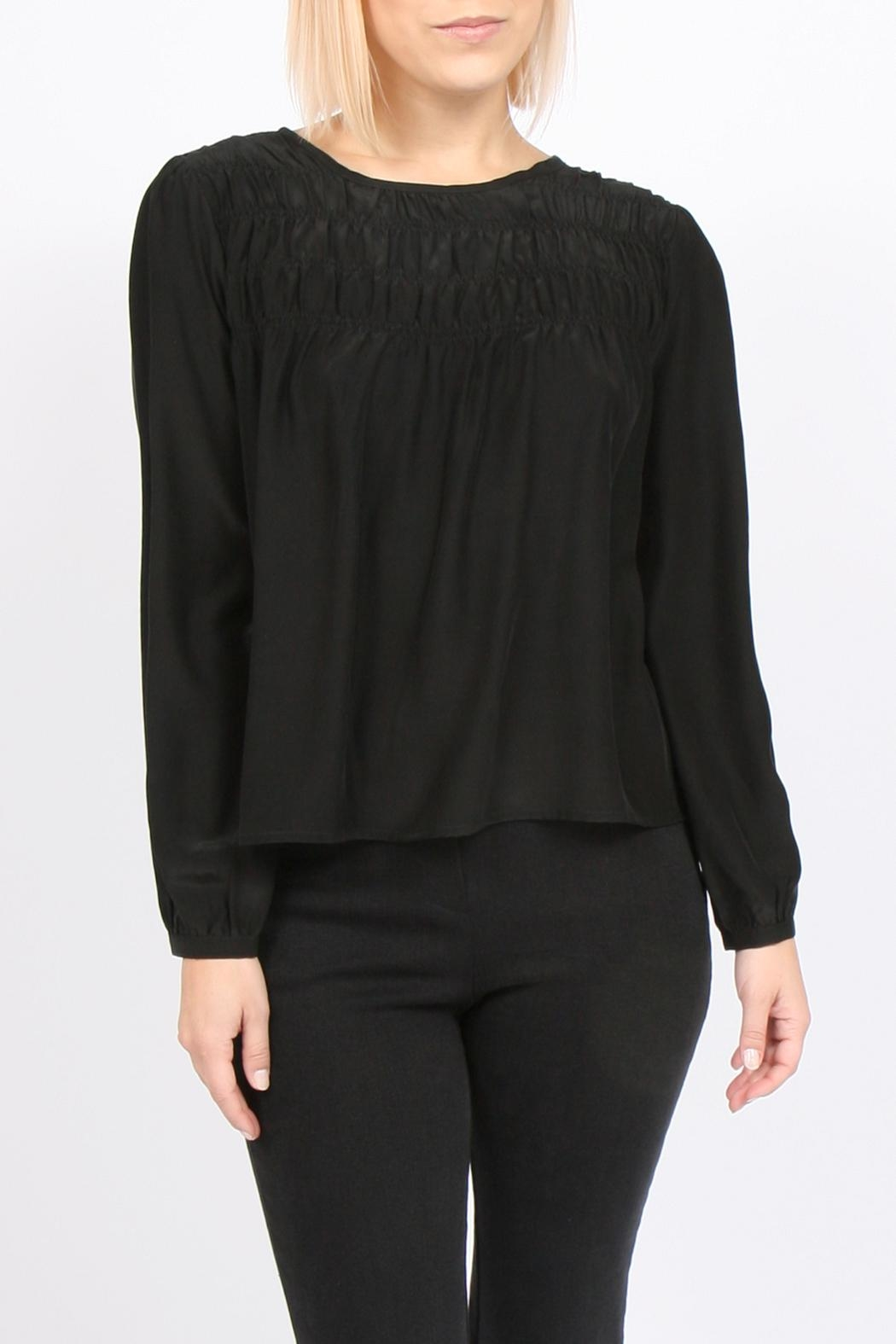 Movint Tucked Silk Blouse - Main Image