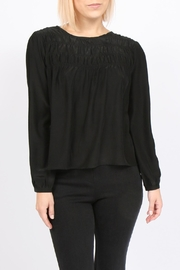 Movint Tucked Silk Blouse - Product Mini Image