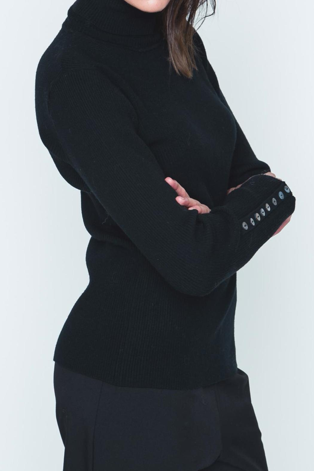 Movint Button Sleeve Turtleneck - Front Full Image