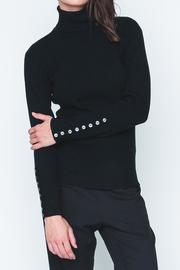 Movint Button Sleeve Turtleneck - Front cropped