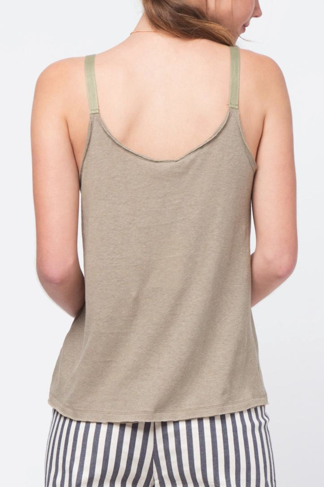 Movint Twill Detailed Cami - Back Cropped Image