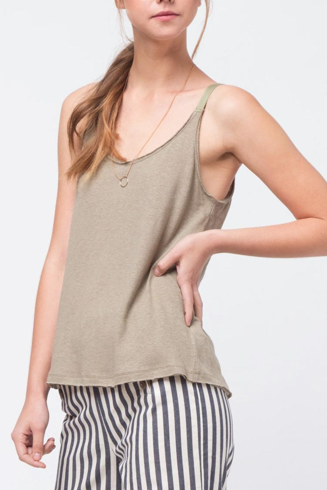 Movint Twill Detailed Cami - Side Cropped Image