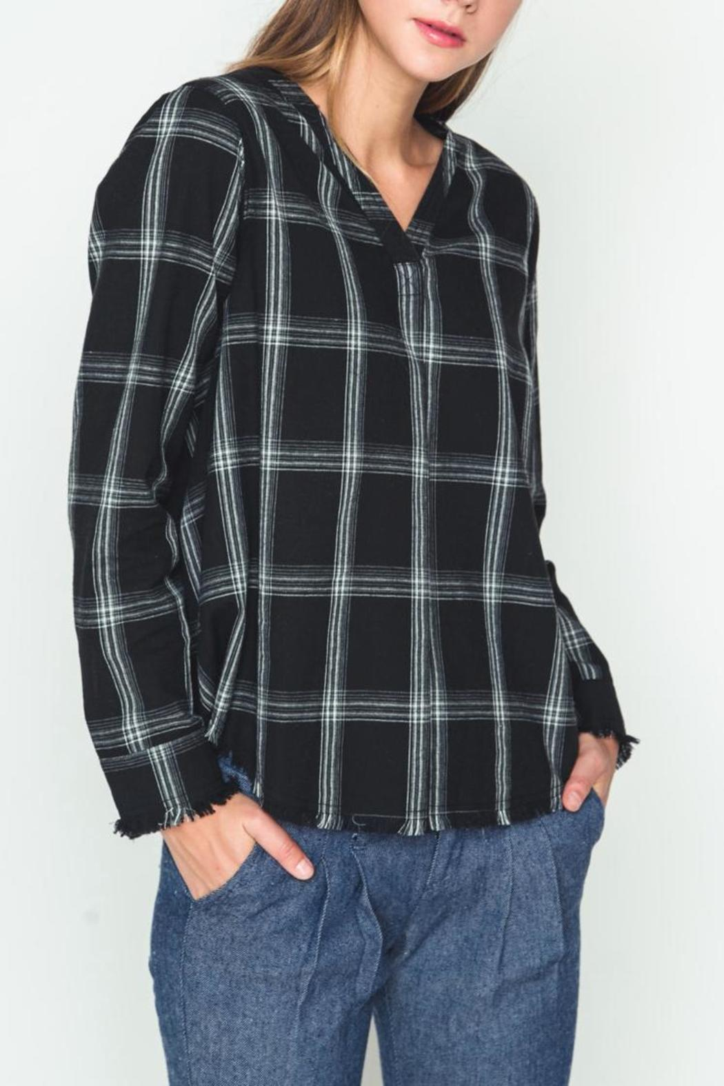 Movint Check Pattern Blouse - Front Cropped Image