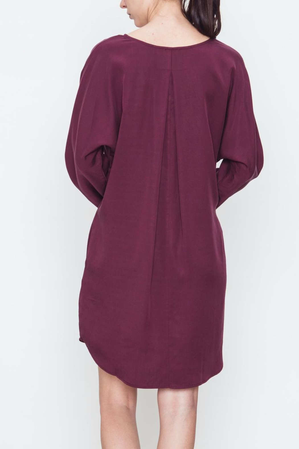 Movint V-Neck Pocket Dress - Side Cropped Image