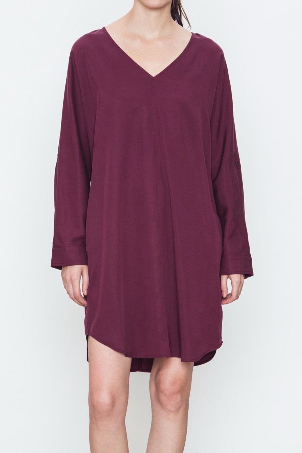 Movint V-Neck Pocket Dress - Main Image