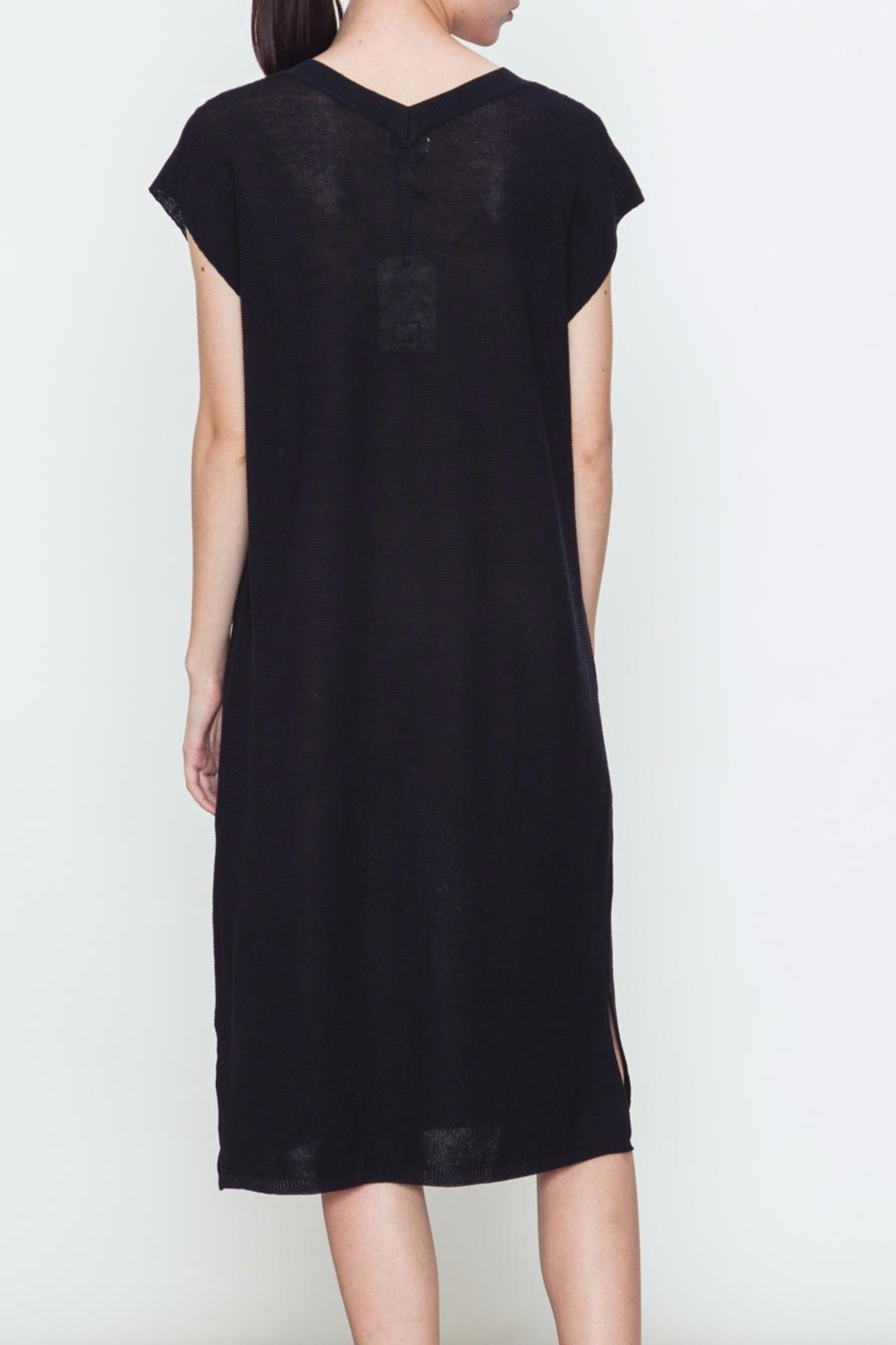 Movint V Neck Sweater Dress - Side Cropped Image