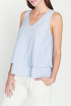 Movint V Neck Tiered Tank - Product List Image