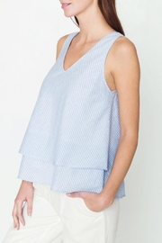 Movint V Neck Tiered Tank - Front full body