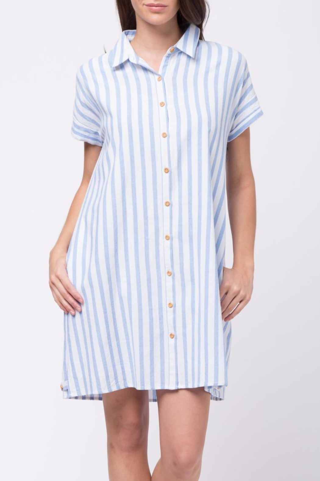Movint Vertical Striped Shirt Dress - Main Image