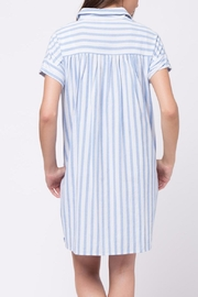 Movint Vertical Striped Shirt Dress - Back cropped