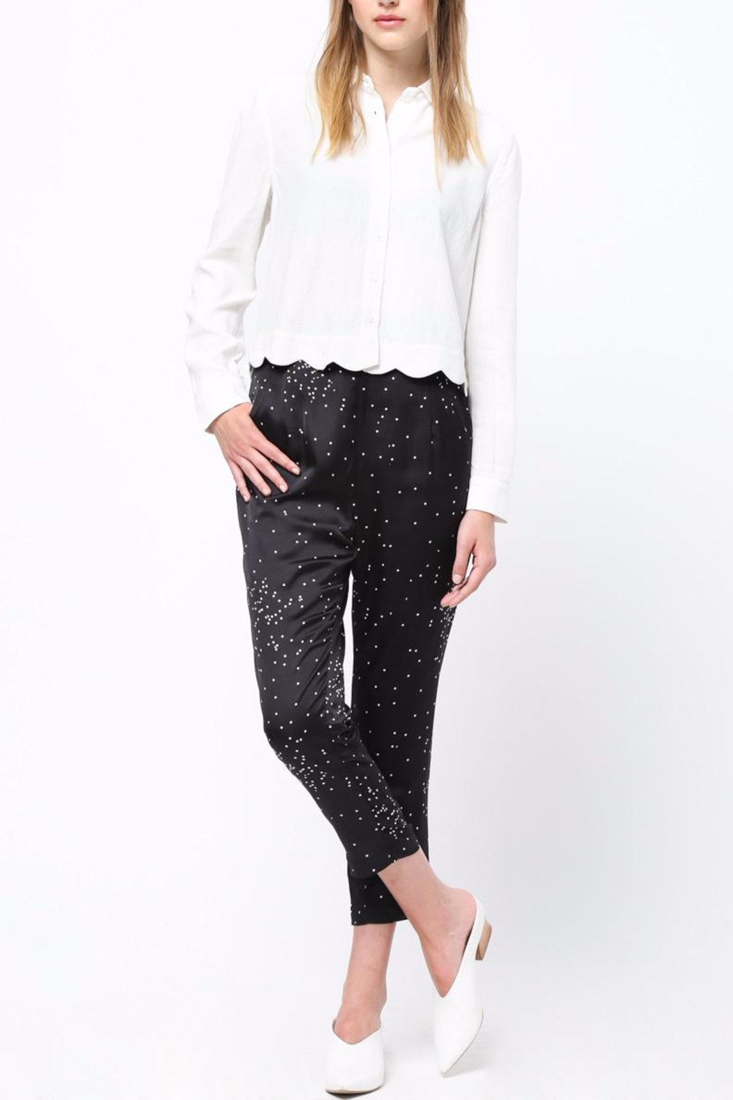 Movint Pin Tuck Trousers - Back Cropped Image