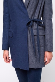 Movint Waist Belt Tailored Jacket - Back cropped