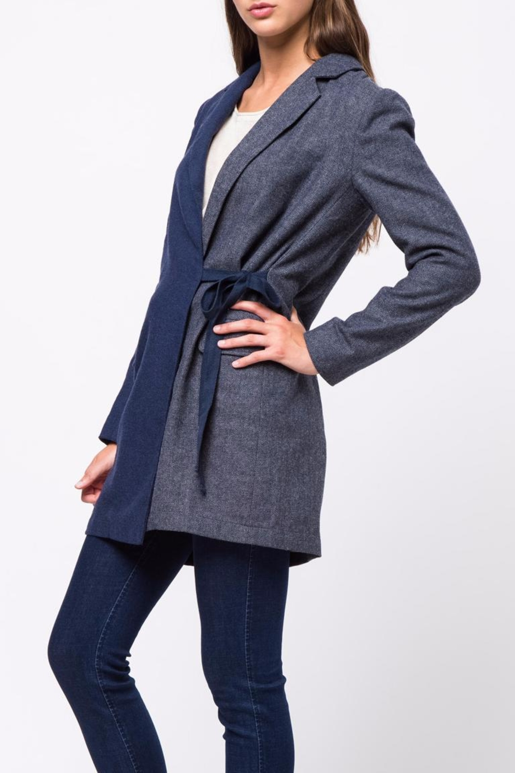 Movint Waist Belt Tailored Jacket - Side Cropped Image