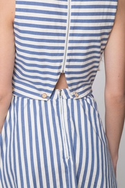 Movint Button Sleeveless Dress - Back cropped