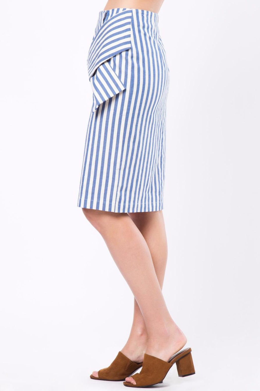 Movint Knot Midi Skirt - Side Cropped Image