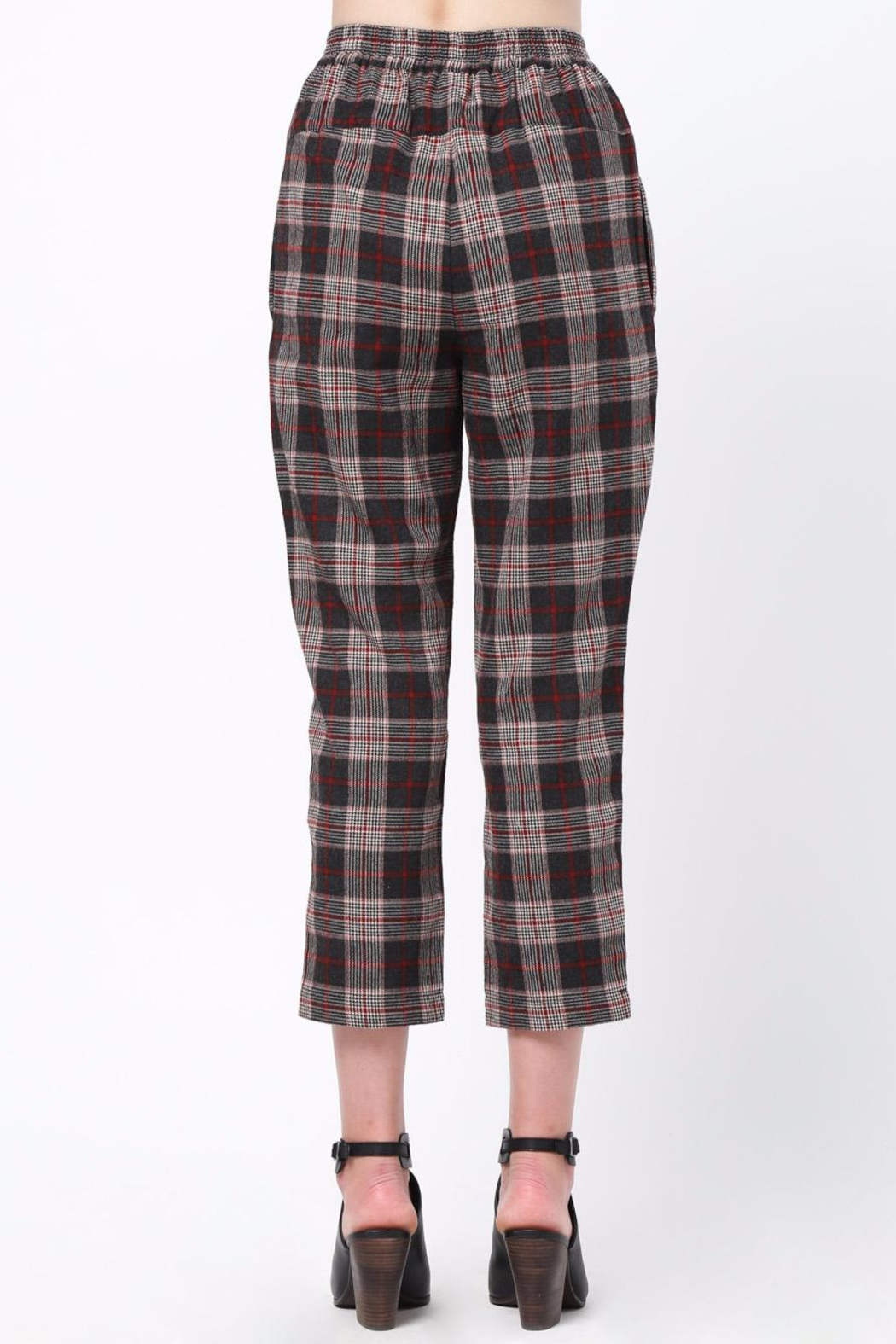 Movint Waist Pintuck Trousers - Front Full Image