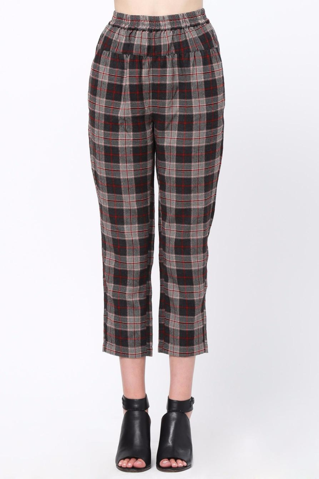 Movint Waist Pintuck Trousers - Main Image