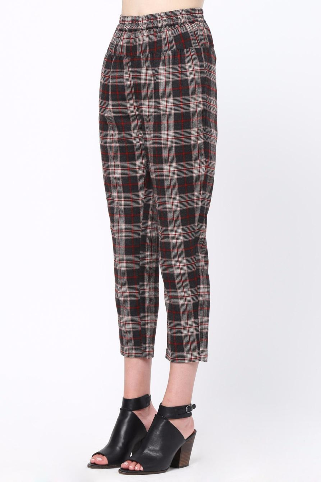 Movint Waist Pintuck Trousers - Side Cropped Image