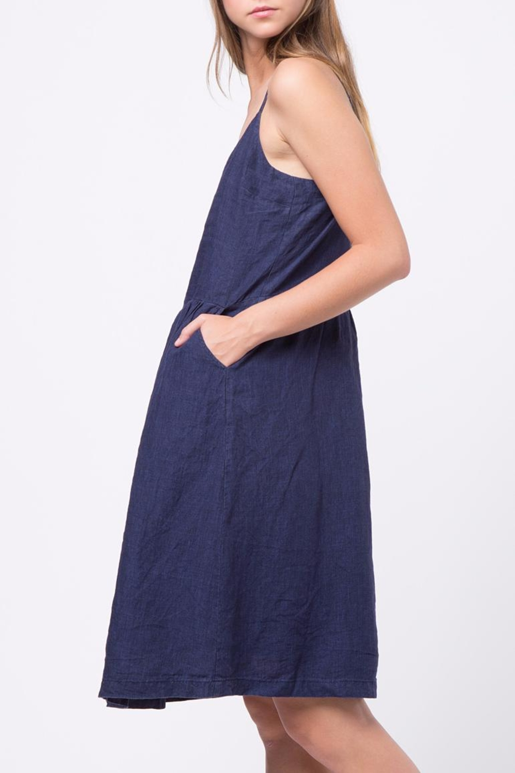Movint Waist Shirring Detailed Dress - Side Cropped Image