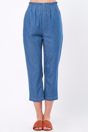 Movint Cropped Denim Pants with Elastic Waist - Product Mini Image