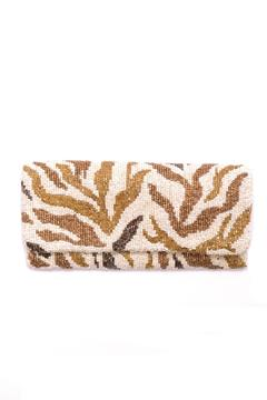 Shoptiques Product: Beaded Foldover Clutch