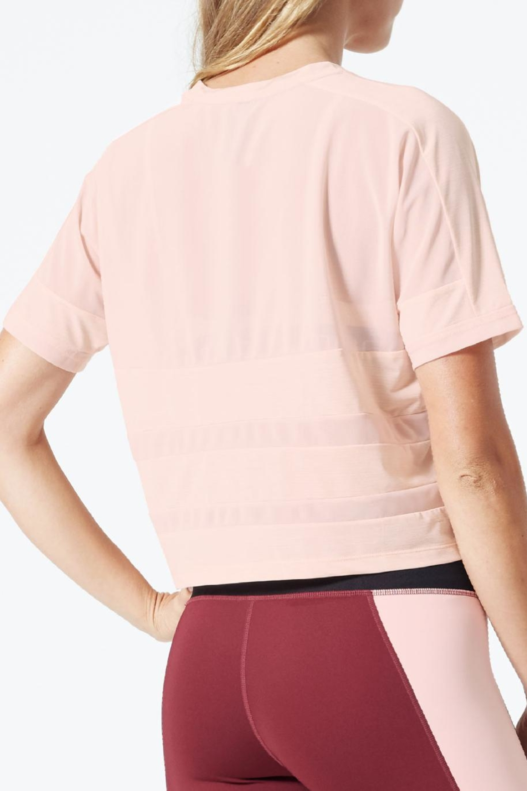 MPG Sport Cropped Mesh T Shirt - Front Full Image
