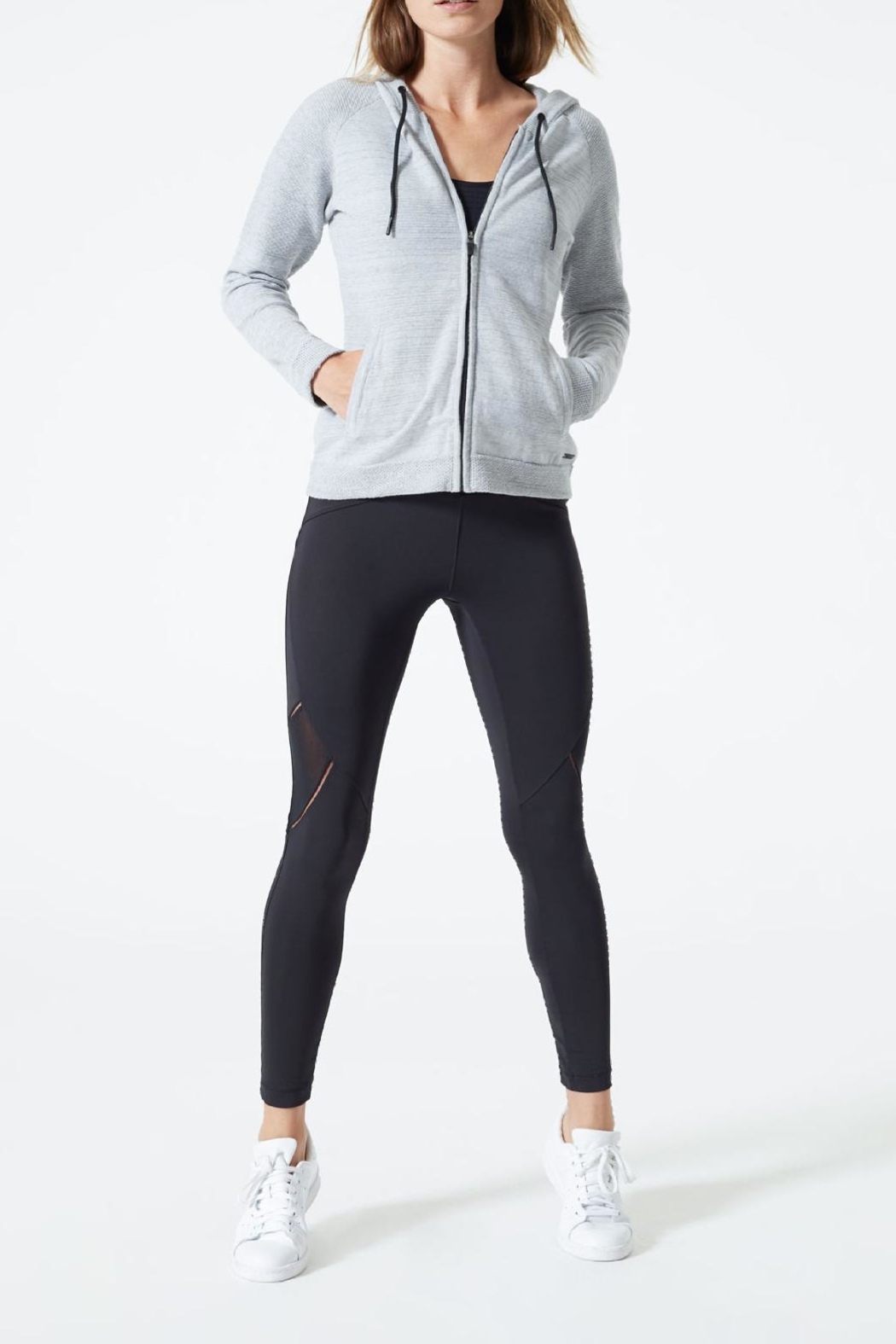 MPG Sport Sweater Knit Hoodie - Front Cropped Image