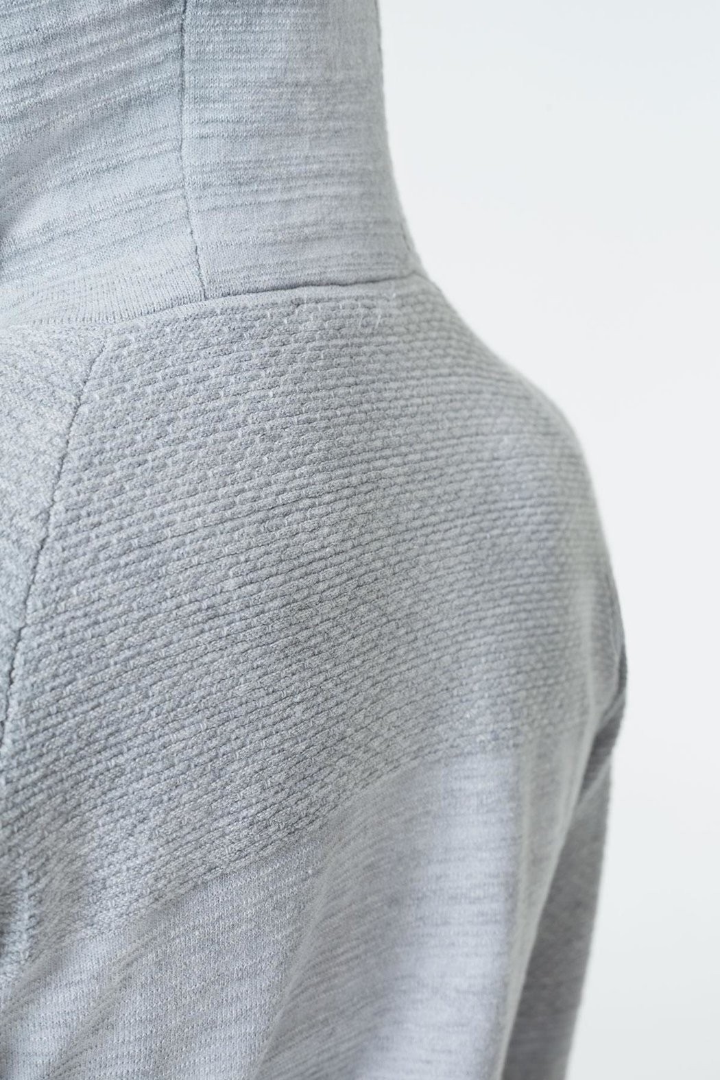 MPG Sport Sweater Knit Hoodie - Back Cropped Image