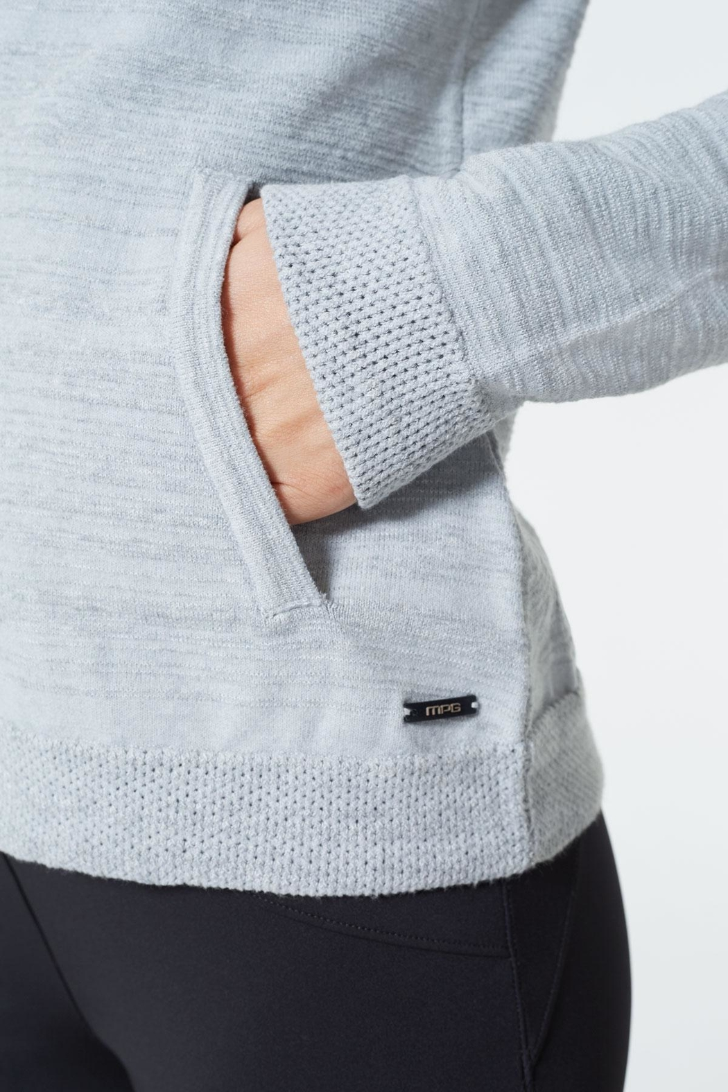 MPG Sport Sweater Knit Hoodie - Side Cropped Image